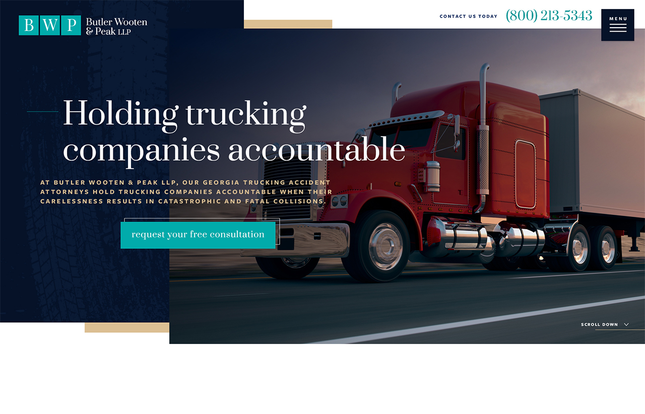 Butler Wooten Trucking - Internet Marketing for Lawyers