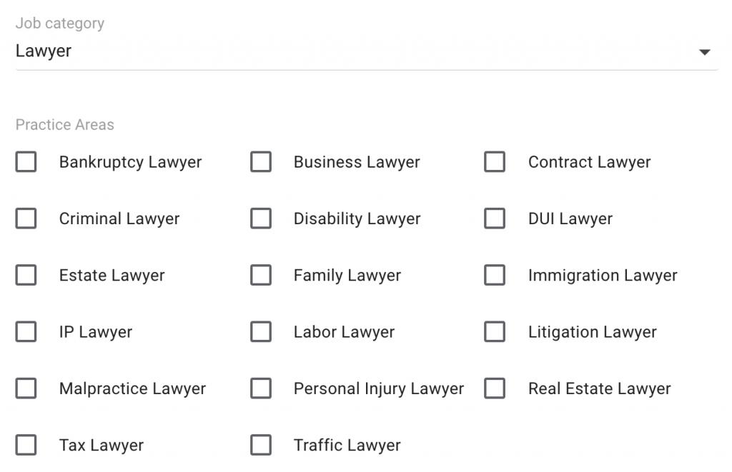 Google Guaranteed Lawyer Eligibility
